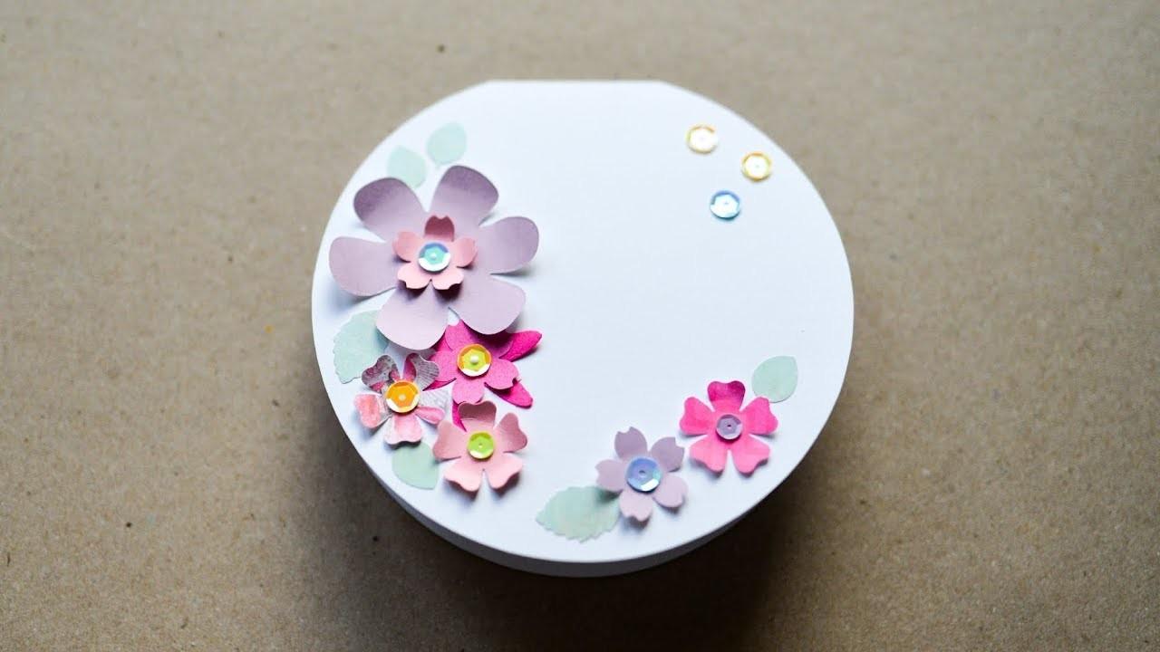 How to make : Circular Greeting Card | Okrągła Kartka Okolicznościowa - Mishellka #265 DIY