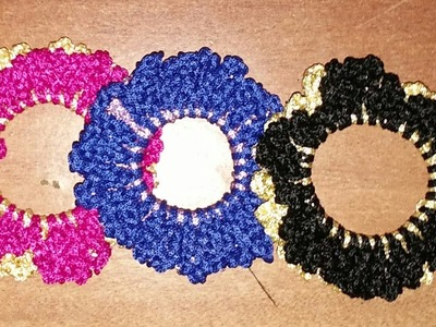 How to make crochet hair rubber band in hindi.indian crochet patterns