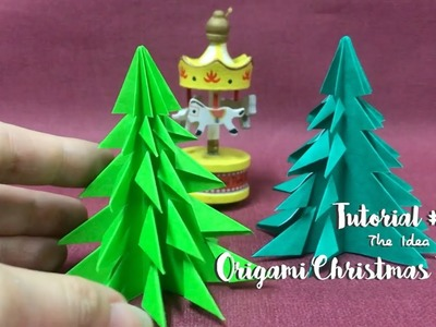 How to Make DIY Origami Christmas Tree? | The Idea King Tutorial #41