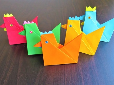 How to Make DIY Paper Hen.Paper Chicken step by step- Easy Tutorial