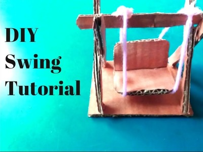 How to make miniature swing from cardboard at home | DIY | Easy swing tutorial. ????
