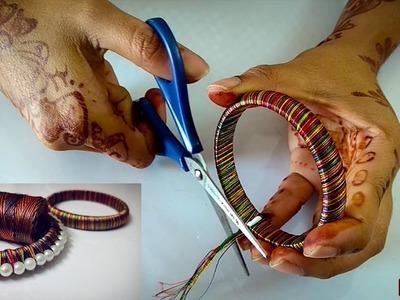 How To Make Silk Thread Bangles | Pearl Bangles | Bangles DIY