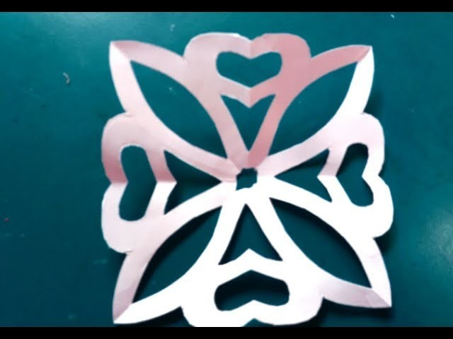 How To Make Simple And Easy Paper Cutting Flower Design Tutorial