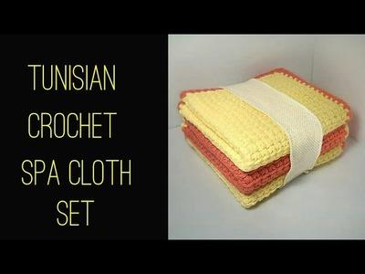 How To - Tunisian Crochet Spa Cloth