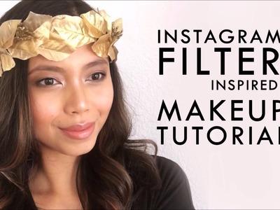 ca40279f2a2 Instagram Filter Makeup Look Tutorial + DIY Golden Leaf