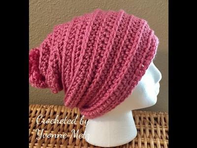 Left Handed Crochet Just Chillin Beanie