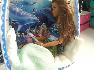 Manualidad : silla colgante para muñecas barbie ???? DIY hanging chair for barbie dolls (opción #2)
