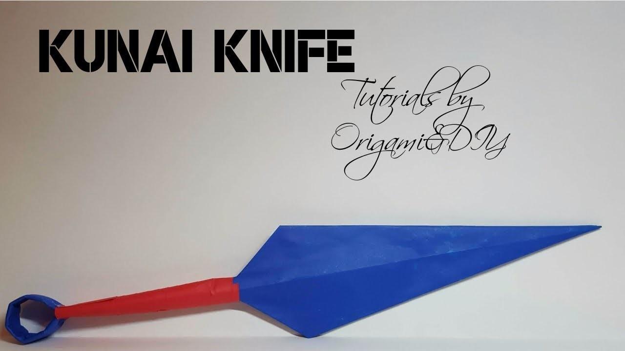 Origami & DIY : 3D Kunai Knife | Tutorial for beginners!