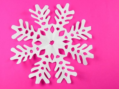 Paper snowflake ❄ №19 ❄ for Christmas and New Year Detailed tutorial DIY