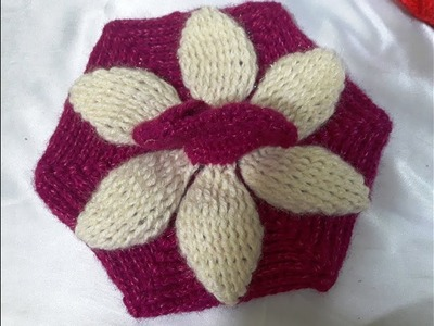 Part - 1 Make Crochet emboss flower dress in two colour - easy step by Step tutorial