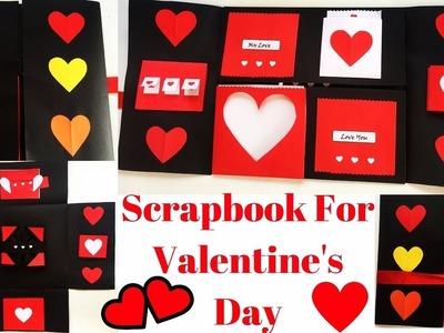 Scrapbook DIY | Scrapbook For Valentine's Day | Valentine Scrapbook Tutorial