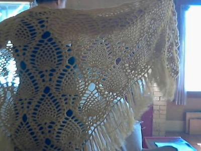Sidewalk Shawl   Crochet   Pineapple Pattern (Free)