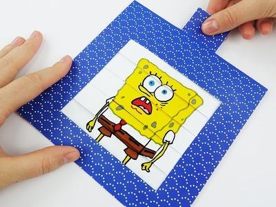 SpongeBob Face Changer DIY Animated Card