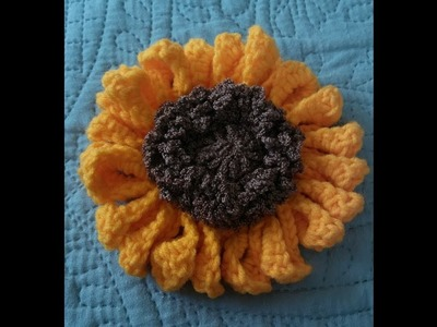 Take 2 :PART 1 IN OUR CROCHET FALL WREATH TUTORIALS: HOW TO CROCHET A SUNFLOWER