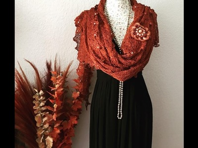 Tutorial Chal de Seda ????Encaje a Crochet con Orilla #1