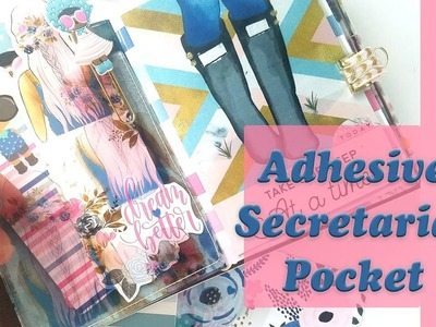 Tutorial | DIY Adhesive Secretarial Pocket for your Travelers Notebook