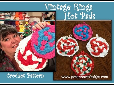 Vintage Rings Hot Pad Crochet Pattern