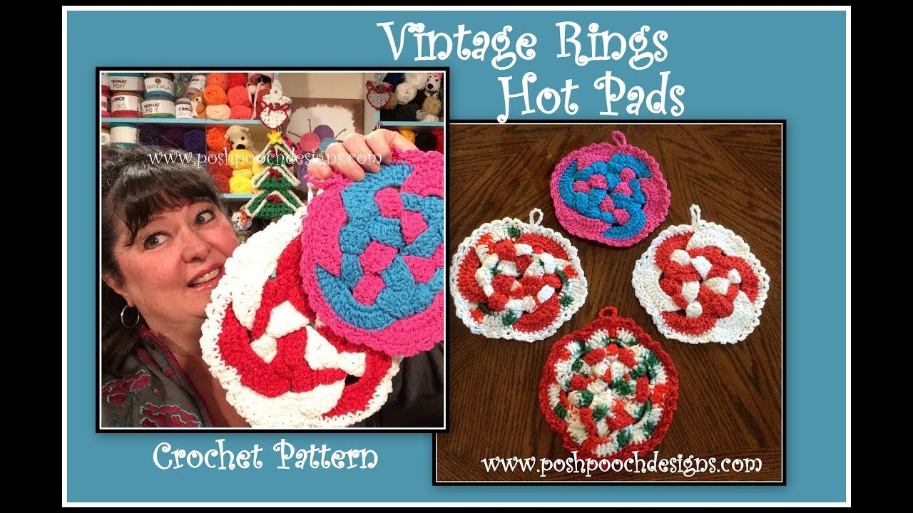 Pattern Vintage Rings Hot Pad Crochet Pattern Vintage Rings Hot