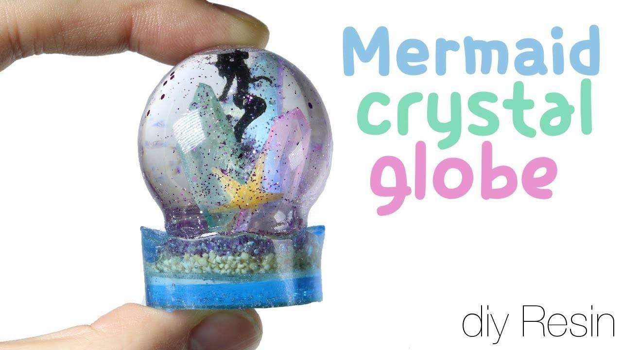 Watch me Resin: How to DIY Mermaid Crystal Globe Tutorial