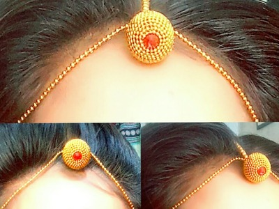 #2 Rajsthani traditional mangtika with headchain making tutorial by | girlish things girlishthings |