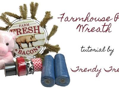 2018 Farmhouse Pig Wreath Tutorial