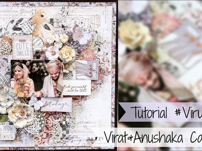 Anushka & Virat Kohli Wedding Inspired Mixed Media Canvas Tutorial | Virushka | Aola DIY