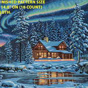 Aurora Cabin Cross Stitch Pattern***LOOK***X***INSTANT DOWNLOAD***