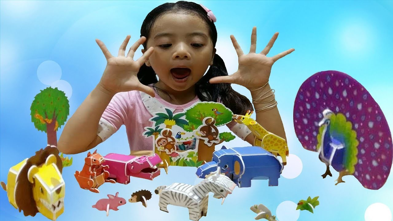 ❤ Baby Make 3D Origami Animals In The Zoo Part 2 By Mia Angel
