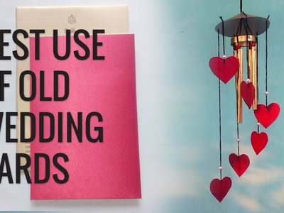Best Use Of Old Wedding cards. DIY Wind Chime