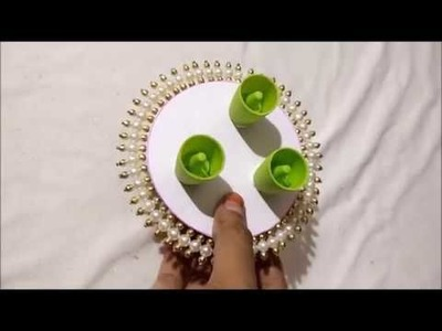 Candle holder easy way in home.diy.best of waste.bangles