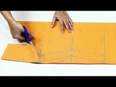 Collar Neck Kurti\Kameez Drafting and Cutting Easy Way    Sewing tutorial