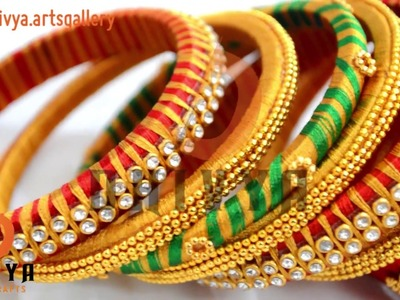 Designer Bridal bangles at Home | DIY | wedding jewellery making