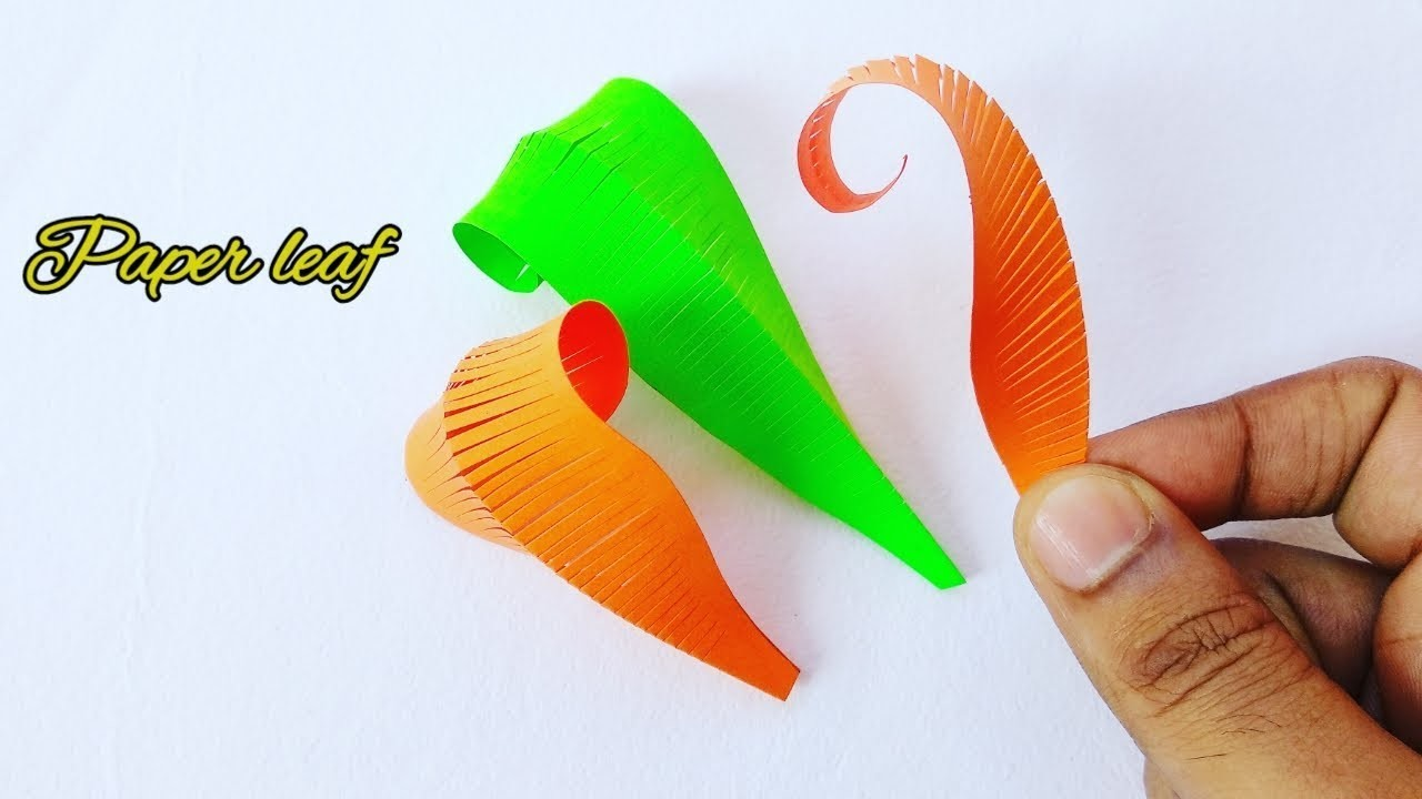 Diy Crafts Paper Leaves Easy Paper Cutting Leaves Tutorial Step