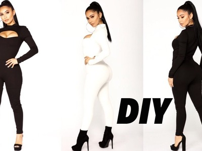 DIY.HOW TO MAKE A PEEK-A- BOO JUMPSUIT. Valentines Day Inspired Jumpsuit