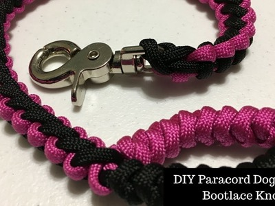 DIY Paracord Dog Leash - Bootlace Knot