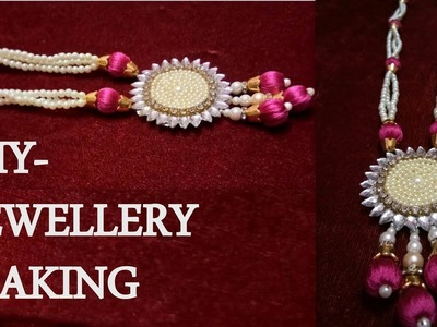 DIY THREAD JEWELLERY MAKING AT HOME |NECKLACE FOR WEDDING | ART WITH ABHIJEET