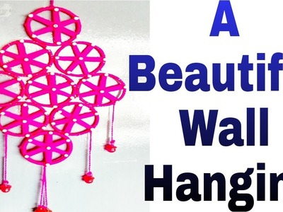 DIY WALL HANGING | BEST USE OF OLD BANGLES | WOOL CREATIVE WORK IDEA