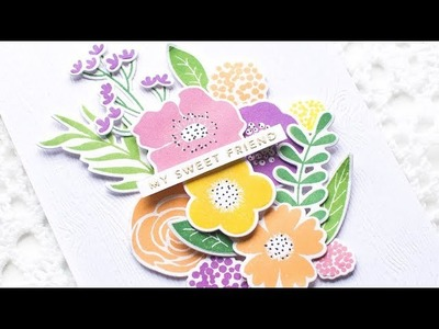 Floral Arrangement Card w. Dimensional Die Cuts + Behind-the-Scenes Craft Desk Video