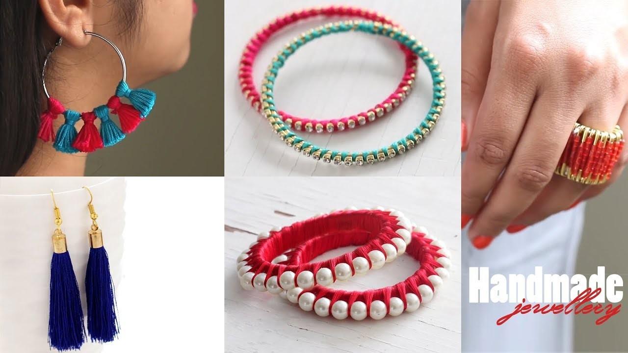 Handmade, DIY || how to make designer silk thread bridal ...