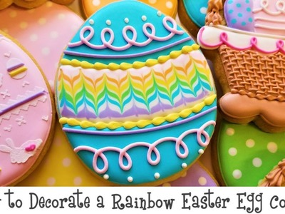 How to Decorate a Rainbow Easter Egg Cookie