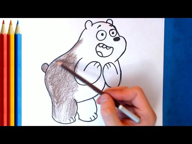 How to Draw Grizzly Bear (we bare bears) - Step by Step Tutorial