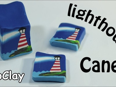 How to make a lighthouse cane - Polymer clay tutorial