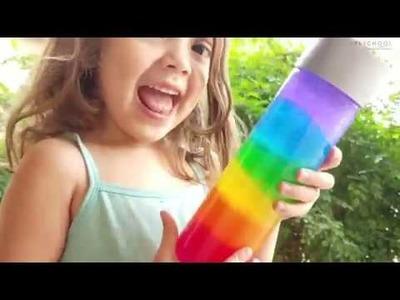 How to Make a Rainbow Sensory Bottle