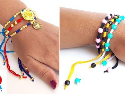 How to make cotton thread bracelet. friendship bracelets. friendship band tutorial