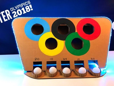 How to Make Olympic Ping Pong Game From Cardboard DIY