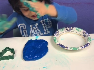 MARY AND JUNIOR MAKE FLUFFY SLIME - EASY DIY SLIME RECIPE