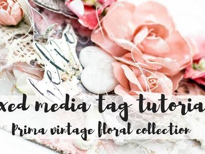 Mixed media tag tutorial | Mixed media texture