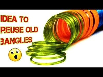 Old Bangles reuse idea!! What we can do using bangles- woolen craft wall art- cool and creative