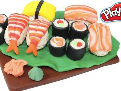 Play Doh Sushi California Rolls Play Doh Sweet Cake Jewelry Cake and Marshmallows Rainbow Ice Cream