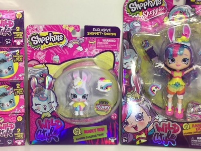 Shopkins Pet Pods Bunny Bow Shoppets Wild Style Rainbow Kate Shoppies Doll Unboxing Review